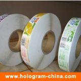 Etiqueta auto-adesiva auto-impressa personalizada