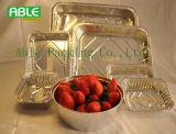 Envase de alimento de aluminio disponible redondo