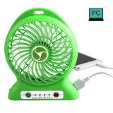 Ventilador de escritorio recargable de litio de la batería del ventilador 4-Inch de las velocidades portables de las paletas 3