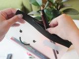 Bolso plástico del lápiz del PVC del color rectangular lindo del caramelo