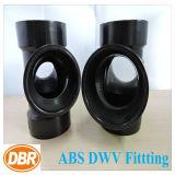 ABS Dwv de taille de 2 pouces ajustant le double té sanitaire