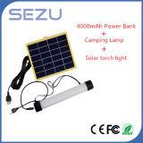 LEDのトーチの管機能3 W USBによって満たされる太陽エネルギーキャンプライト
