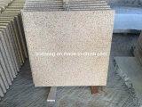 G682 Polished Yellow Granite Slab per Steps