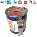 Chinesische Factory Round Coin Bank Soem-mit Handle Tin Can Jy-Wd-2015112801