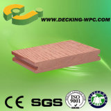 Decking composé en plastique économique, favorable à l'environnement, en bois