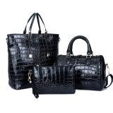 Form-Krokodil 3 PCS-Beutel stellten lederne Entwerfer-Handtasche der Frauen-Dame-PU ein