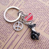 Animal Accesorios Key, mono llavero de metal (GZHY-KC-016)