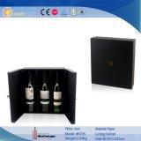 De Doos van het Dubbel van de luxe & van de Wijn van Zes Flessen met de Toebehoren van de Wijn