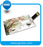 Movimentação do flash do USB do cartão conhecido 128GB de cartão do crédito do presente do negócio