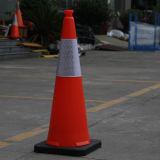Cône de soufflement de sécurité routière de PE orange d'Américain et de l'Australie