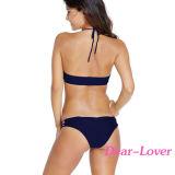 Swimwear купального костюма шеи способа блестящий высокий