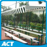 Al aire libre blanqueadores metálicos portátiles con asiento de plástico