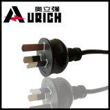 Силовой кабель оплетки хлопка штепсельной вилки Pin австралийца 3, шнур поставкы входного сигнала утюга