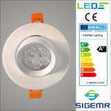 LED vertieftes Downlight justierbares 9W