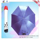 Parapluie se pliant durable de bouteille de Rose de cadeaux d'armature promotionnelle en métal