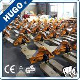 2.0 Tonnen-das Gussteil des PU-Rad-DF pumpt Handladeplatten-LKW-Ladeplattejack-Handbuch-Gabelstapler