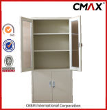 Filing Cabinets en acier Metal Storage Containers avec le compartiment Cmax-FC04-001 de Glass Door