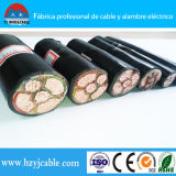 Огнезащитный кабель с медным проведением, электрический кабель Yjv, PVC обшил кабель
