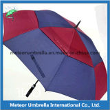 Paraguas del golf de las capas dobles de la prueba del respiradero