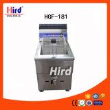 Máquina profunda de la hornada del equipo del hotel del equipo de la cocina de la máquina del alimento del equipo del abastecimiento del Bbq del equipo de la panadería del Ce de la válvula del tanque de la sartén del gas sola (HGF-181)