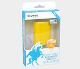 Rectángulo de papel plástico del fabricante para la batería de la potencia (conjunto plástico del regalo)