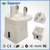 переходника AC Multi-Штепсельных вилок 11W (RoHS, уровень VI эффективности)