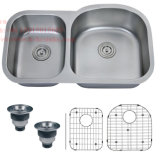 """Edelstahl """" X33-1/2 """" der Cupc Bescheinigung-21 unter Montierungs-Doppelt-Filterglocke-Küche-Wanne"""