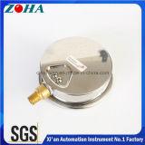 Hydraulischer Anti-Vibrationsdruckanzeiger mit unterer Anschluss-Flüssigkeit füllte