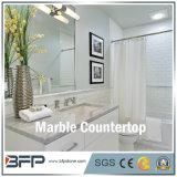 Branco natural/Brown/banheiro de pedra de mármore preto para a parte superior da vaidade com tratamento facilitado da borda