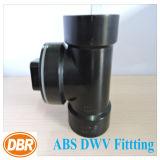 ABS Dwv размера 1.5 дюймов приспосабливая тройник Cleanout с штепсельной вилкой