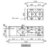 Oppein USA Projekt-Form rote Belüftung-hölzerne Küche-Möbel (OP14-PVC07)