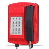 Telefone impermeável Knsp-18 da liga de alumínio de telefone Emergency do fornecedor