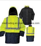 Chaqueta respirable del desgaste/de la seguridad del trabajo de la seguridad de la venta al por mayor larga de la funda del OEM