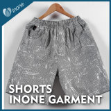 Inone 073 Mens nada Shorts ocasionais da placa das calças curtas