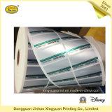 Etiqueta engomada auta-adhesivo del rodillo impermeable de la escritura de la etiqueta de la impresión (JHXY-AS00017)