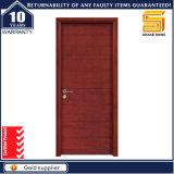 Porte en verre en bois intérieure de forces de défense principale de placage de PVC de panneau de modèles neufs