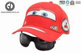 Casquillo de los deportes del béisbol del bebé de los cabritos de la manera con la impresión y las gafas de sol de la transferencia