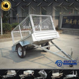 Cage (SWT-BT6*4-L)를 가진 가벼운 Duty Single Axle Trailer