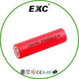 18650 2500mAh電池の円柱再充電可能なセルか乾電池