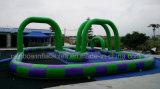 Juegos inflables vendedores calientes del deporte de la pista de raza para los cabritos, juego inflable