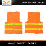 Veste elevada da visibilidade da veste reflexiva barata da segurança