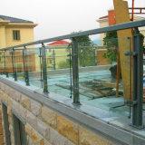 Carril vítreo al aire libre de los apoyabrazos de la aleación de aluminio del precio bajo de la alta calidad de Foshan