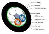 Cabo ótico diretamente enterrado da fibra do núcleo de GYTS 24