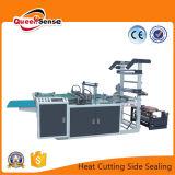 Sola línea de corte en caliente de sellado lateral Máquina para hacer bolsas