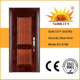 Casa moderna de la puerta principal diseños de puerta de seguridad de acero (SC-S186)