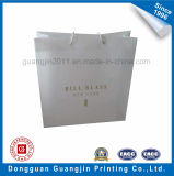 金ロゴの高品質の白書のショッピング・バッグ