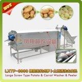 Machine légume/pomme de terre/raccord en caoutchouc/taro/melon/de lavage et écaillement à vis d'igname de chine