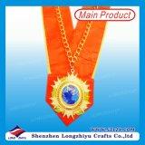 Les médailles en métal de chef de placage d'argent d'or de moulage mécanique sous pression personnalisées