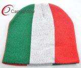 Bordado plano de las fibras de acrílico del sombrero popular de la gorrita tejida