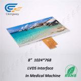 8 écran LCD de la résolution 1024 de surface adjacente de Lvds de moniteur de pouce TFT-LCD (RVB) X768